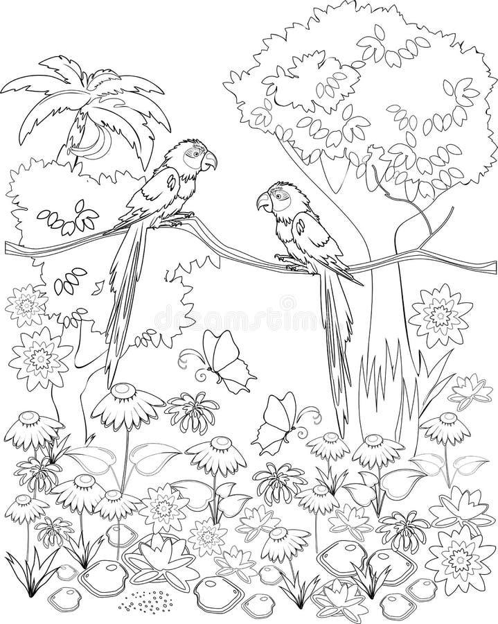 Страница расцветки иллюстрация штока