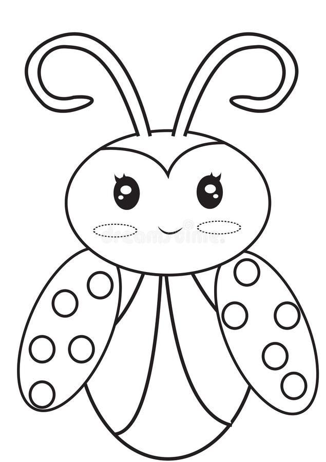 Страница расцветки Ladybug бесплатная иллюстрация