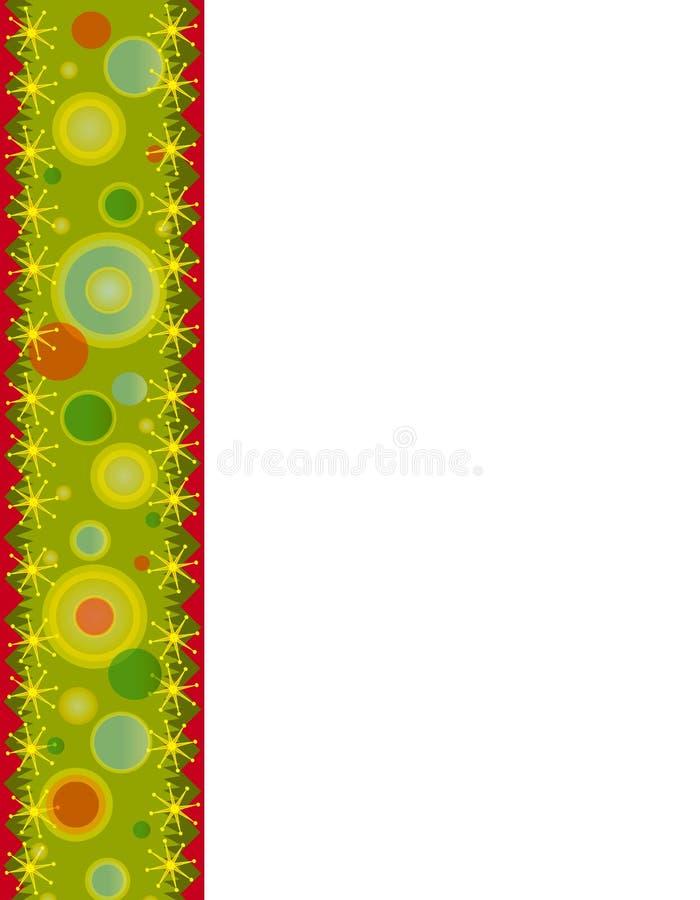 страница рождества граници ретро бесплатная иллюстрация