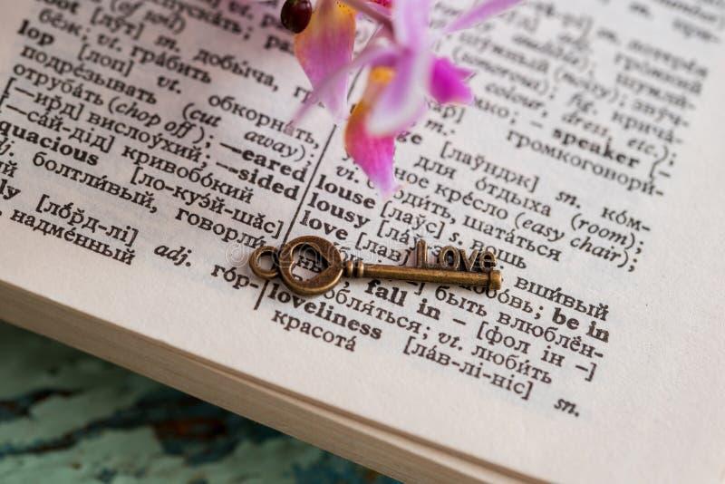 Страница словаря с словом стоковое фото