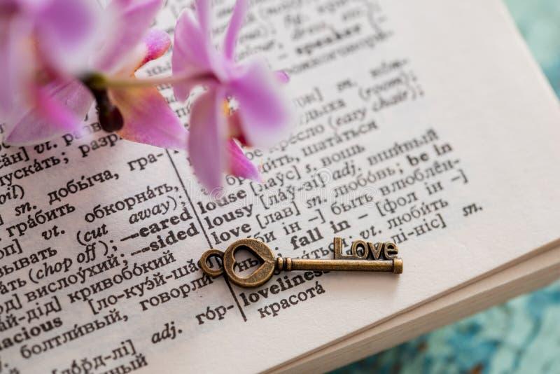 Страница словаря с словом стоковое изображение