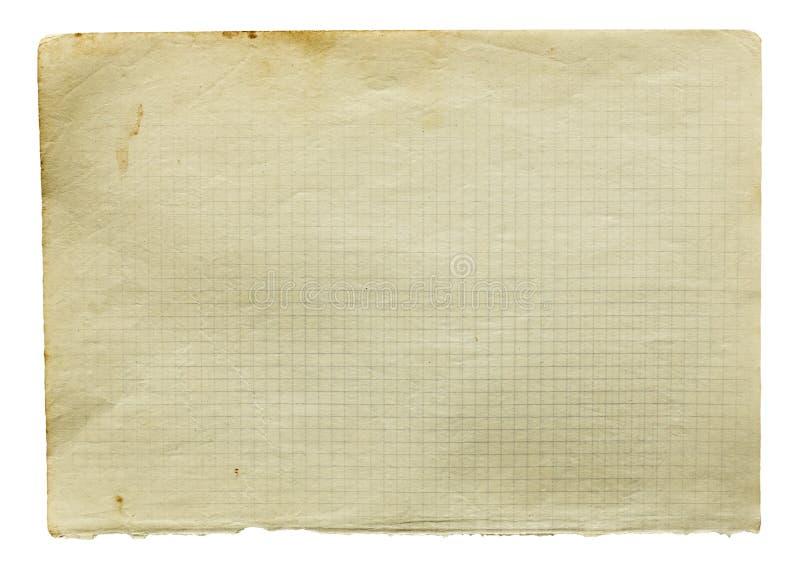Страница старой приданной квадратную форму бумаги стоковые фотографии rf