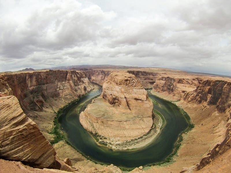 страница США тетради человека загиба Аризоны horseshoe стоковая фотография rf
