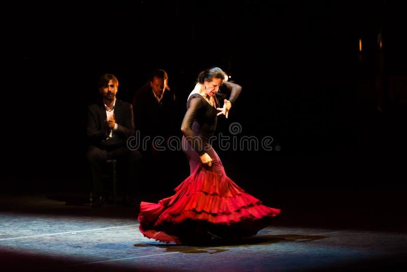 Страницы Марии, испанский танцор фламенко стоковая фотография