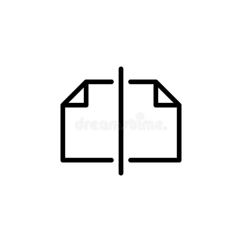 Страницы, отрезанный значок Смогите быть использовано для сети, логотипа, мобильного приложения, UI, UX бесплатная иллюстрация