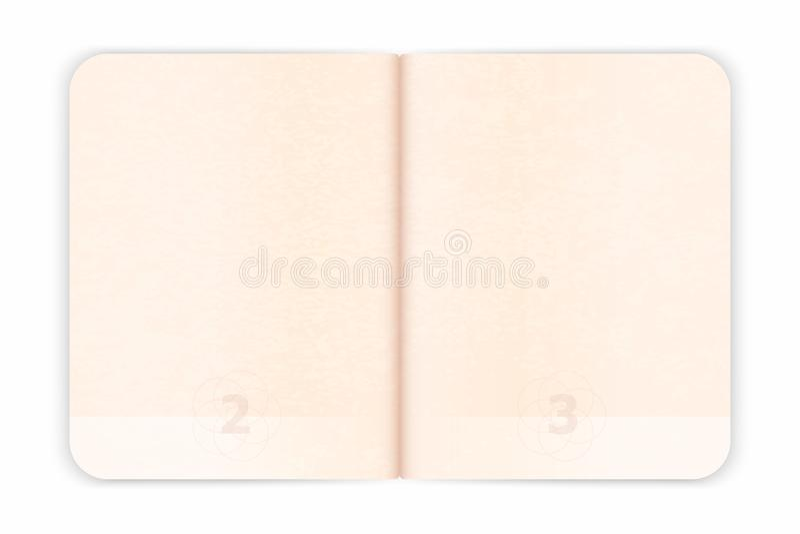 Страницы пасспорта вектора пустые для штемпелей визы Пустой пасспорт с водяным знаком бесплатная иллюстрация