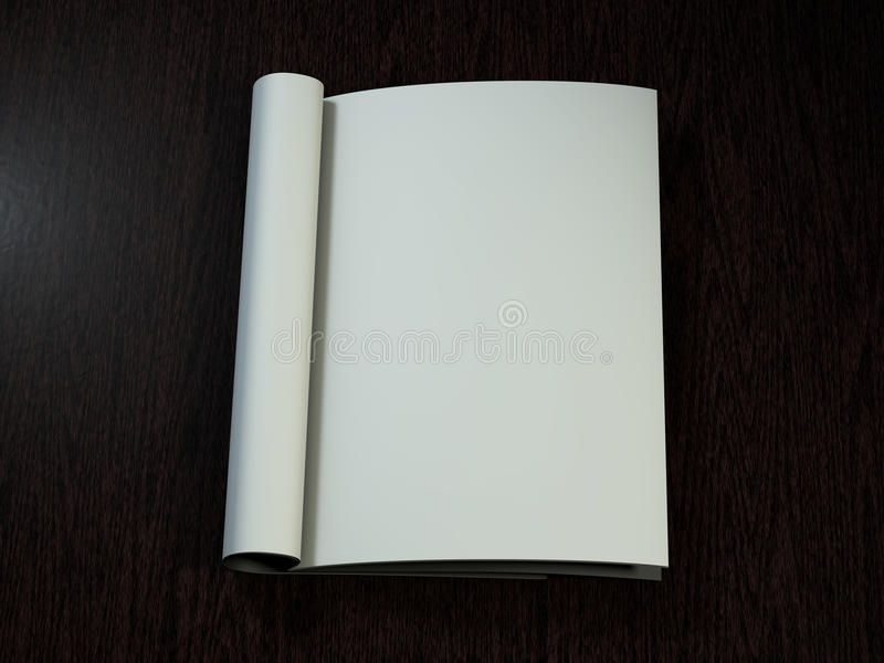 страницы пустой кассеты открытые перевод 3d иллюстрация вектора