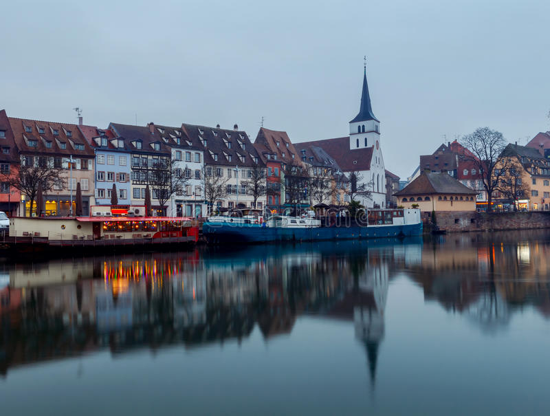 страсбург Набережная St. Thomas стоковая фотография rf