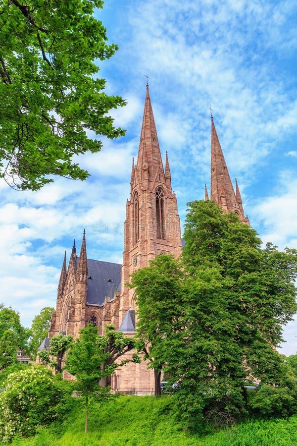 Страсбург протестантской церкви стоковая фотография