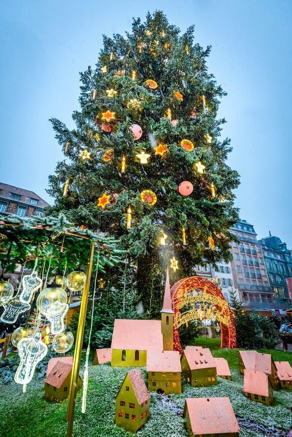 Страсбург, Эльзас, Франция - Capitale de Noel стоковое фото rf