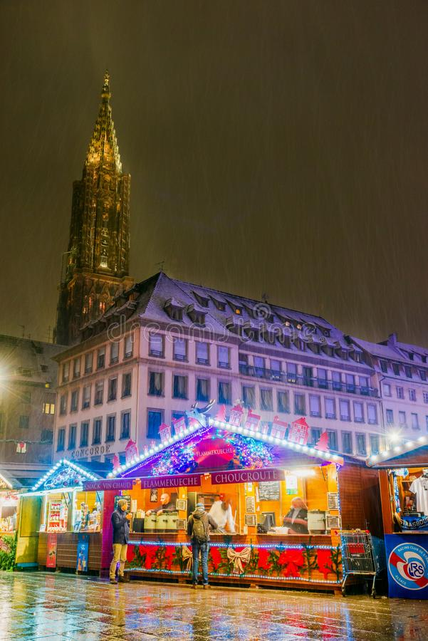 Страсбург, Эльзас, Франция - Capitale de Noel стоковое изображение