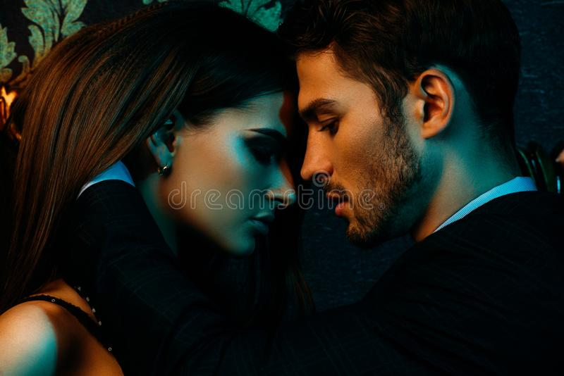 Страстные пары в любов стоковое фото rf