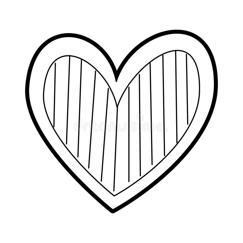 Страсть романс любов сердца украшает нашивки иллюстрация штока