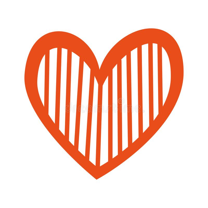 Страсть романс любов сердца украшает нашивки иллюстрация вектора