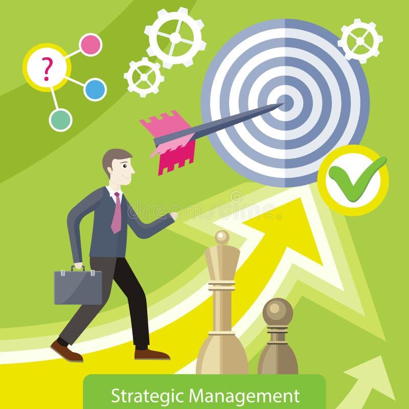 Стратегическая иллюстрация вектора концепции управления иллюстрация штока