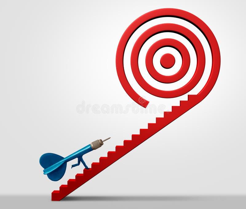 Стратегический успех в бизнесе тропы иллюстрация штока
