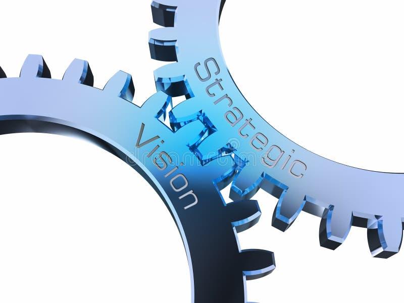 Стратегическое зрение на gearwheels бесплатная иллюстрация