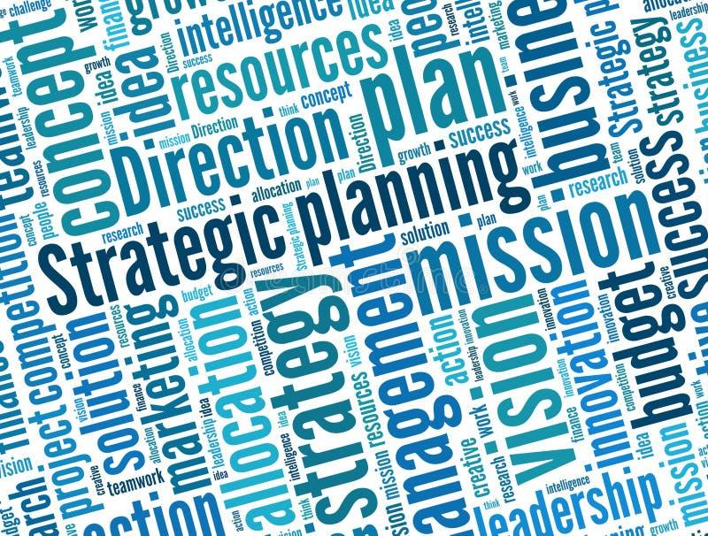 Стратегическое планирование иллюстрация вектора