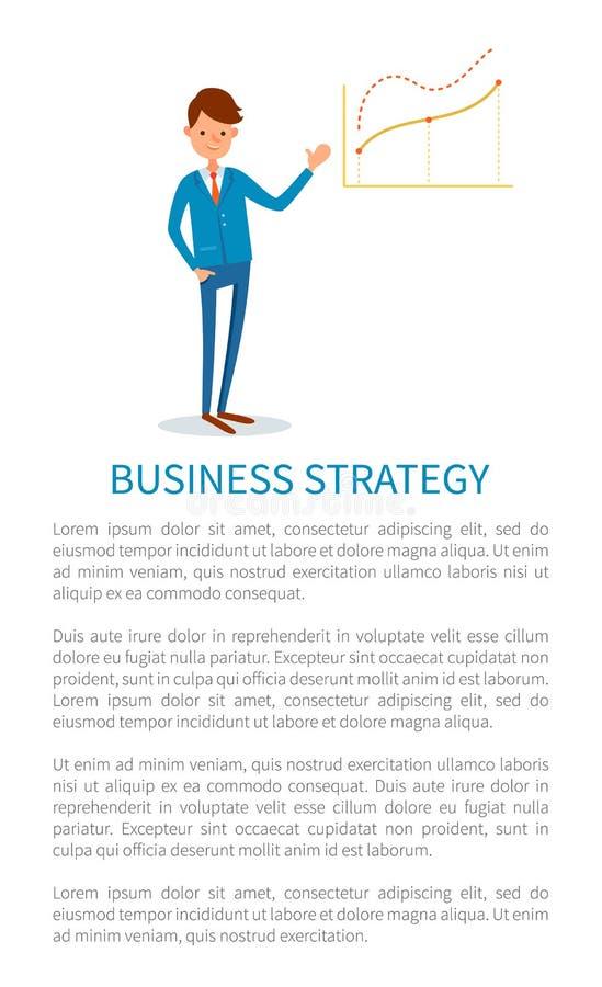Стратегия бизнеса, работодатель указывая на диаграммы бесплатная иллюстрация