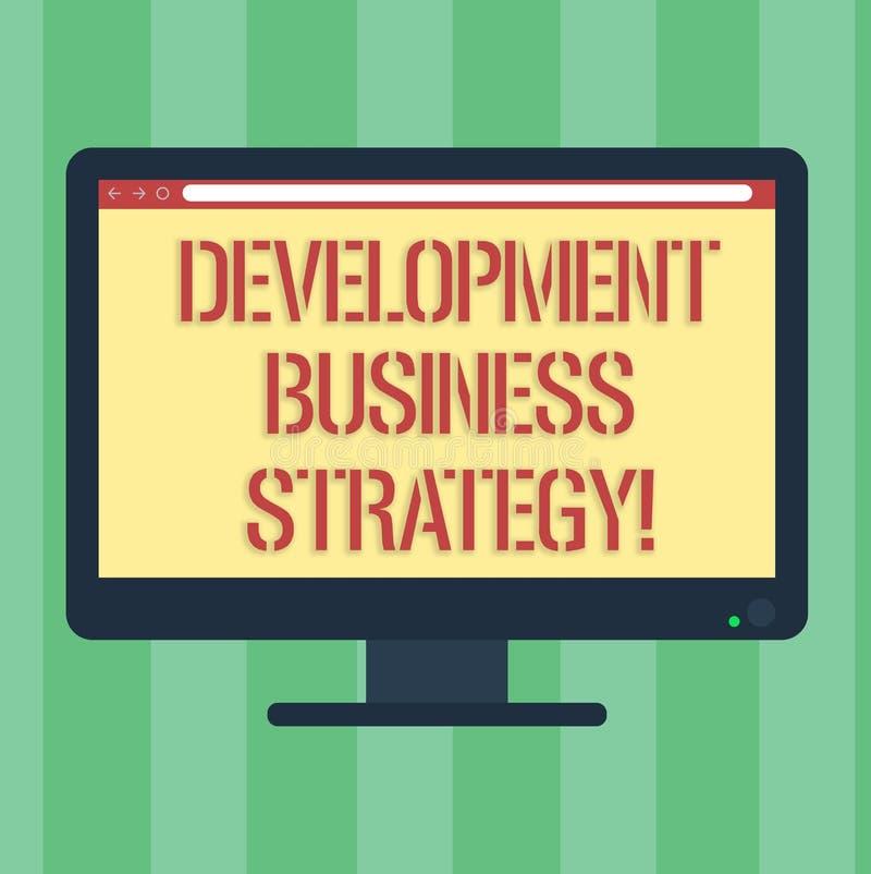 Стратегия бизнеса развития текста почерка Компьютер пробела плана долгосрочного планирования бизнеса смысла концепции стратегичес иллюстрация штока