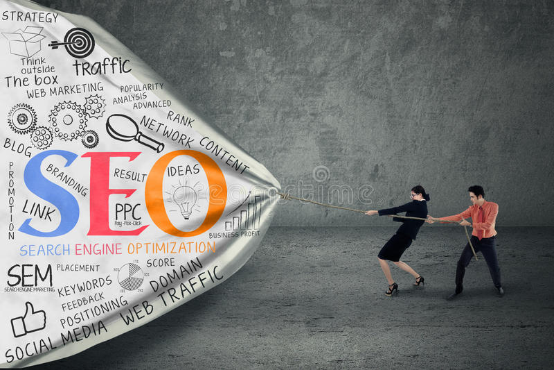 Стратегия бизнеса с концепцией seo стоковая фотография rf