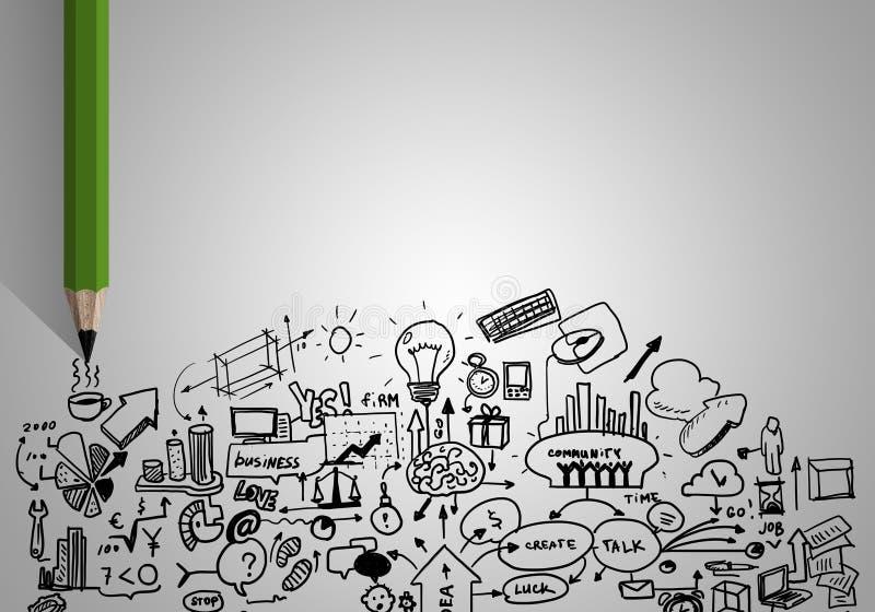 Стратегия бизнеса иллюстрация штока