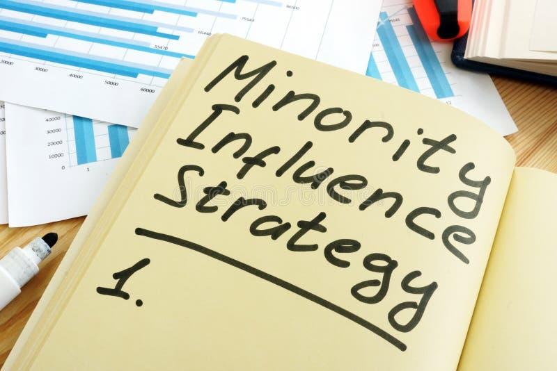 Стратегия влияния на меньшинства стоковые фото