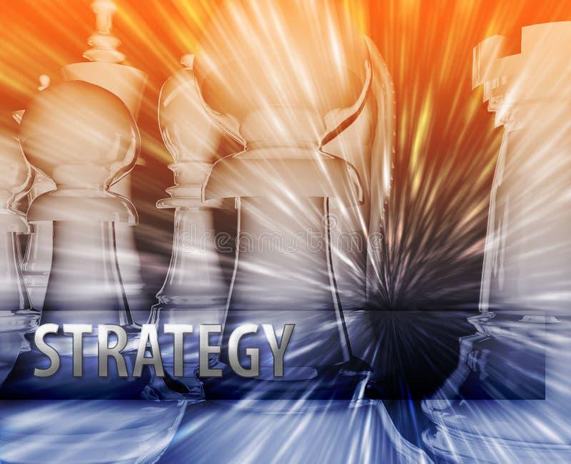 стратегия иллюстрации дела иллюстрация вектора