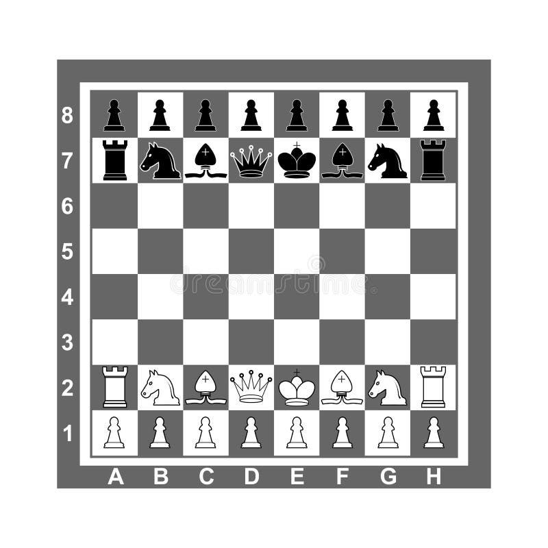 стратегия конкуренции шахмат доски Иллюстрация вектора, плоский дизайн иллюстрация вектора