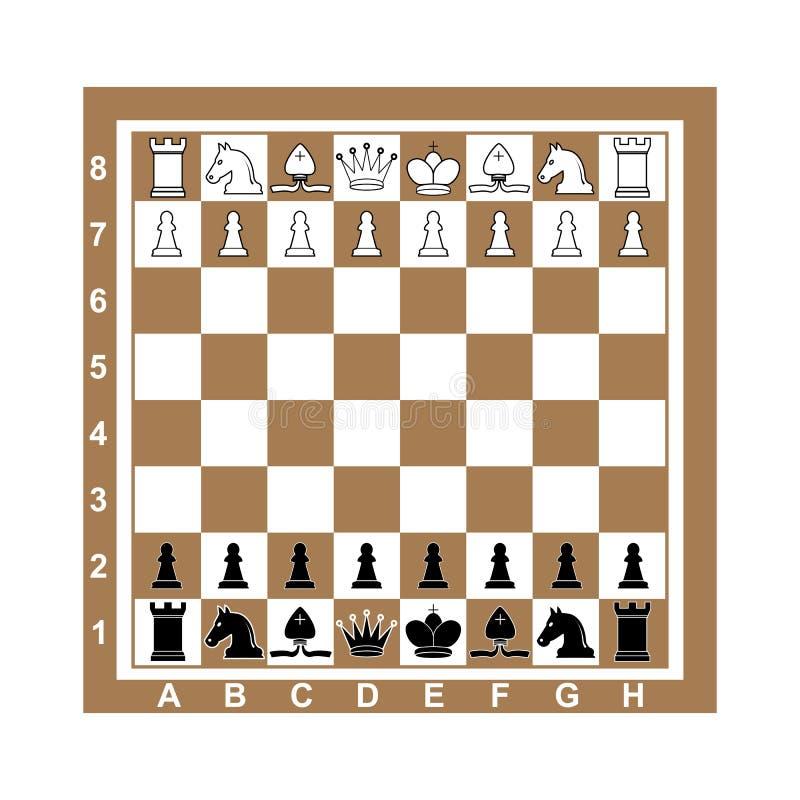 стратегия конкуренции шахмат доски Иллюстрация вектора, плоский дизайн бесплатная иллюстрация