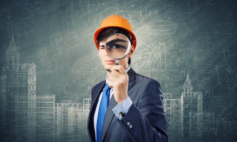 Download Стратегия конструкции стоковое изображение. изображение насчитывающей увеличитель - 41650341