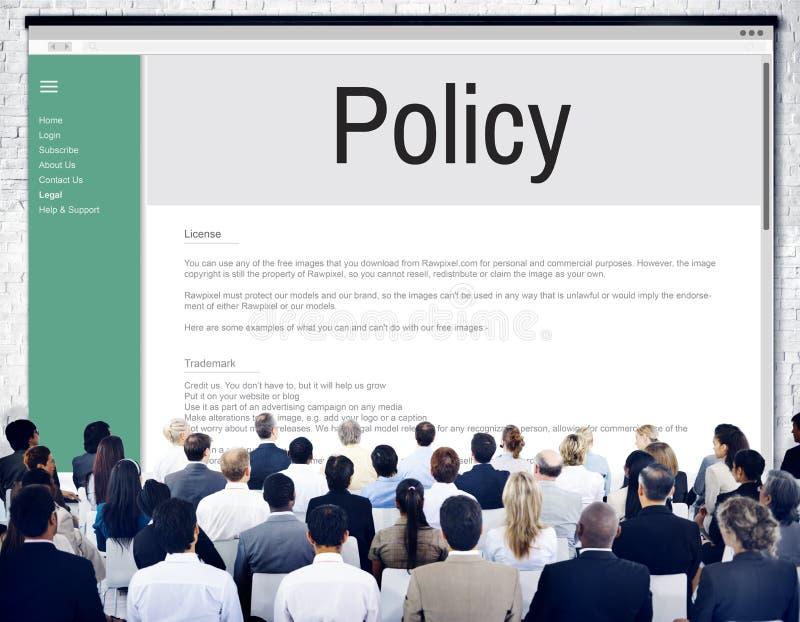 Стратегия принципа данным по политики уединения управляет концепцией стоковая фотография