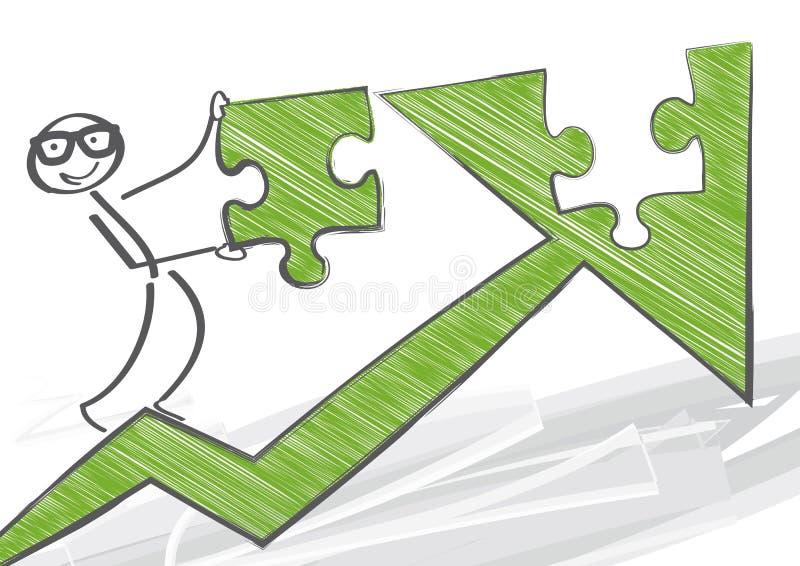 Стратегия роста иллюстрация вектора