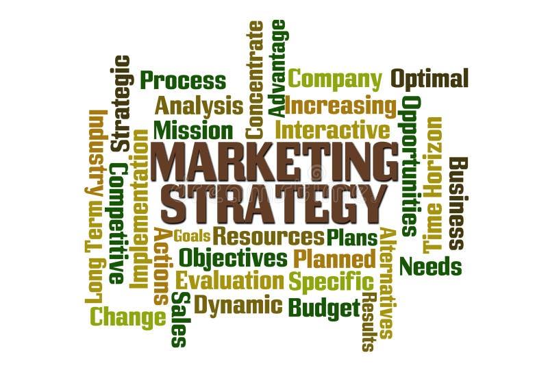 Стратегия рынка иллюстрация вектора