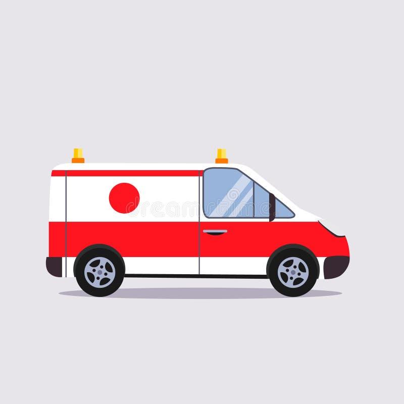 Страхование и вектор Illustartion машины скорой помощи иллюстрация вектора