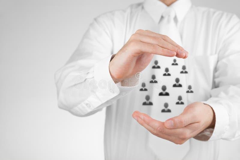 Страхование и принципиальная схема заботы клиента стоковые фотографии rf