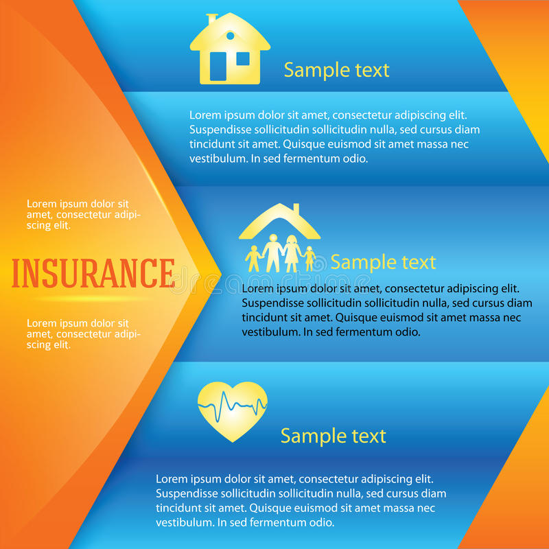 Страховани-предпосылк-страниц-листовк-реклама иллюстрация вектора