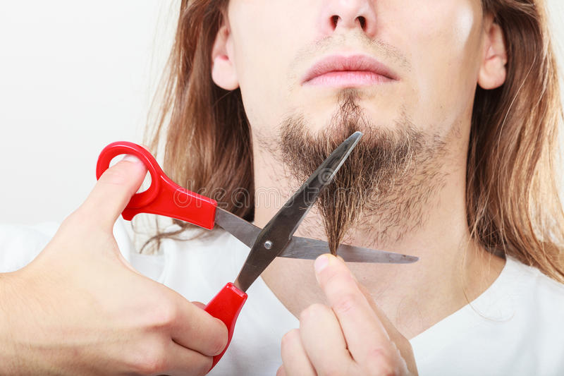Страх бороды вырезывания стоковые фотографии rf