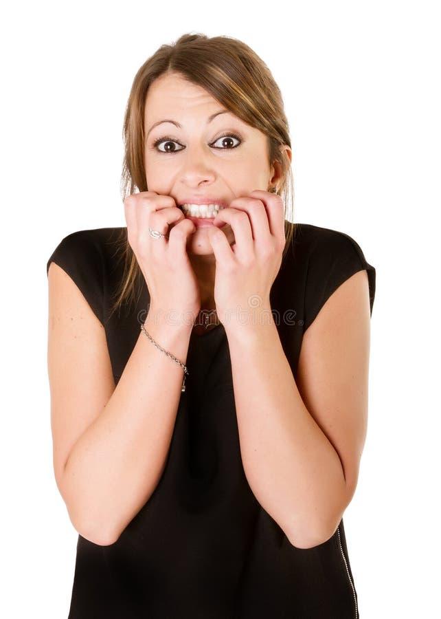 Страх женщины стоковое изображение