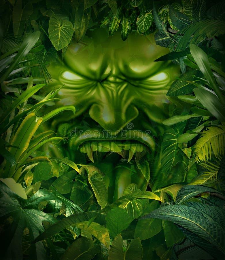 Страх джунглей иллюстрация вектора