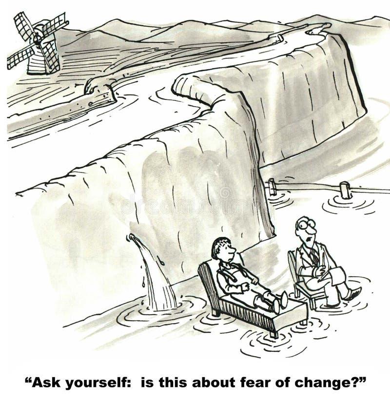 Страх изменения иллюстрация вектора