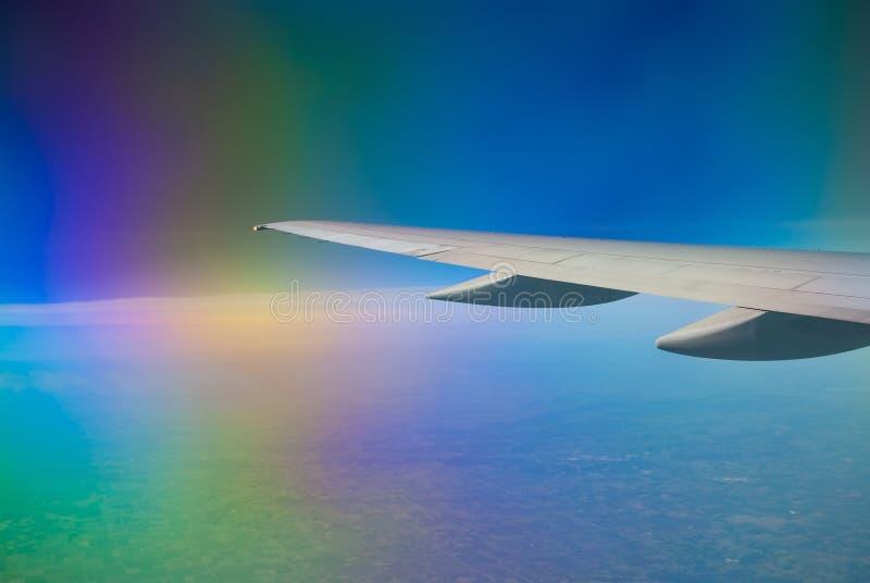 Страх летания стоковое изображение