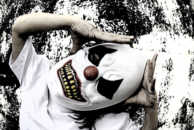Страх муки клоуна стоковые изображения