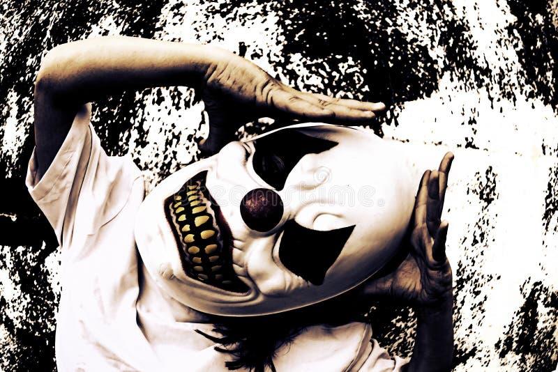 Страх муки клоуна стоковые изображения rf