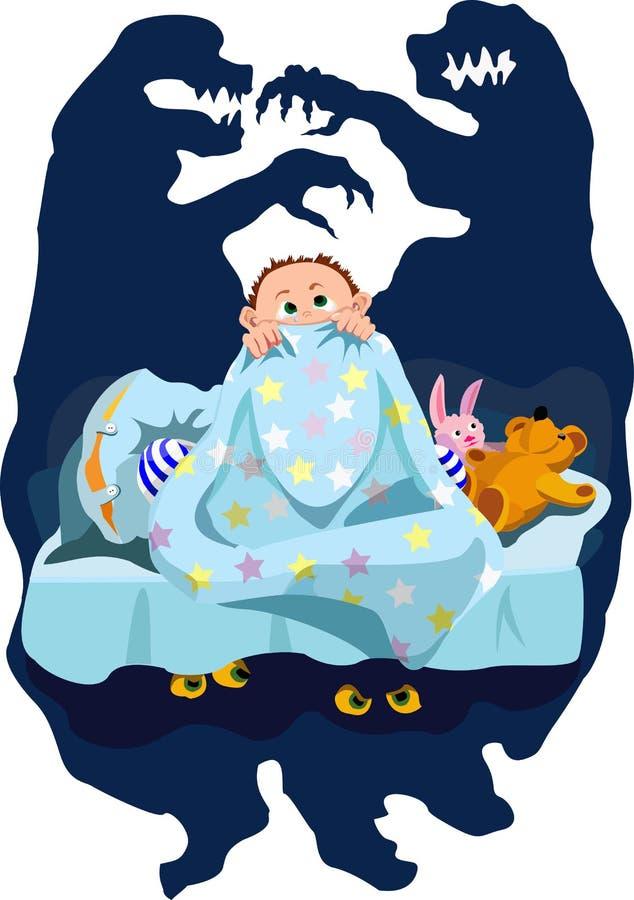 Страх младенца иллюстрация штока