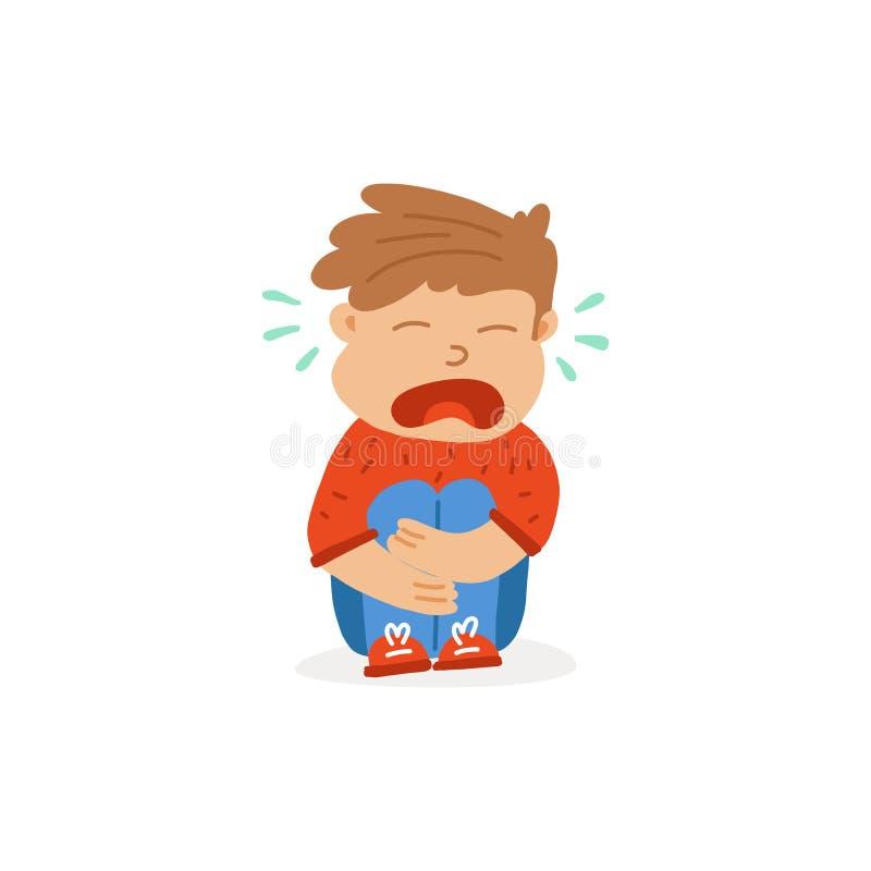 Страх ребенка знамени информации, причины для плакать бесплатная иллюстрация