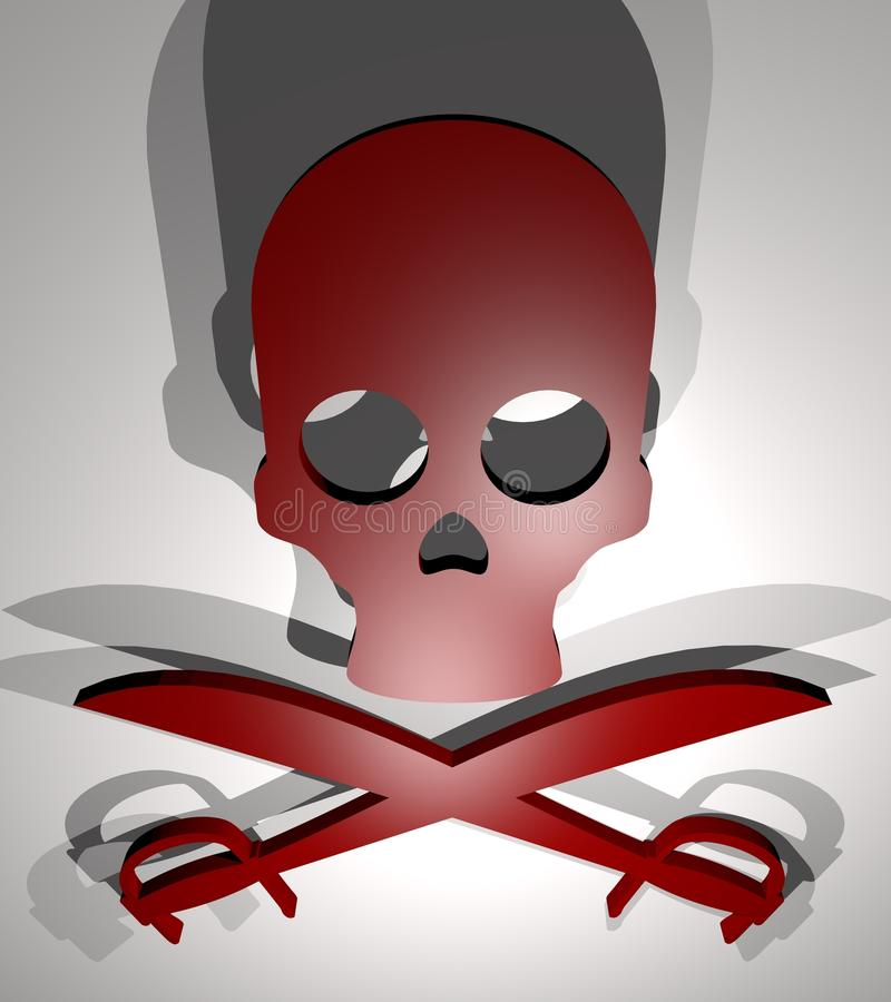 Страх убийства иллюстрация вектора