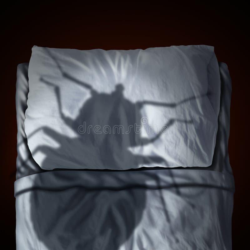 Страх черепашки кровати иллюстрация штока