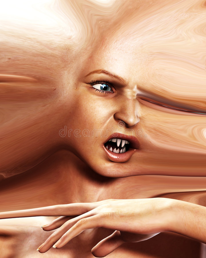 Страшная головка 5 ужаса иллюстрация вектора