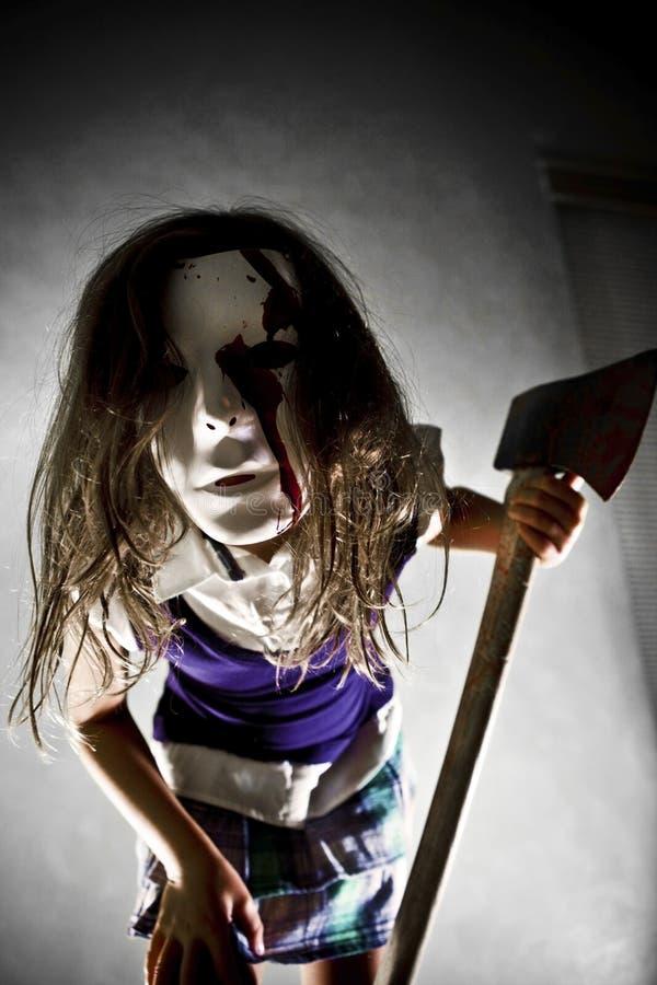 Страшная девушка стоковое изображение rf